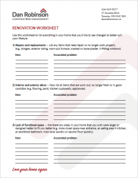 dan robinson construction management-worksheet